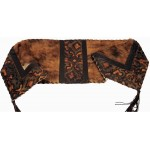 image for Laredo Sepia Embossed Leather & Brindle Hair-on-Hide Leather Table Runner 12 x 54
