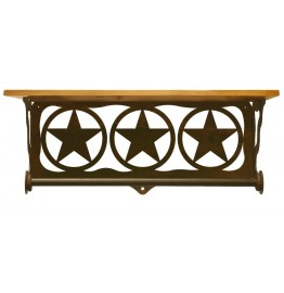 image for Texas Star Circle Bath Shelf & Towel Bar 20 inch