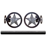 image for Texas Ranger Star Burnished Pole Rod Holders (Optional rod)