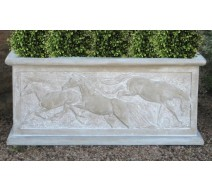 image for Jealous Mare Horses 3-D Relief Garden Planter