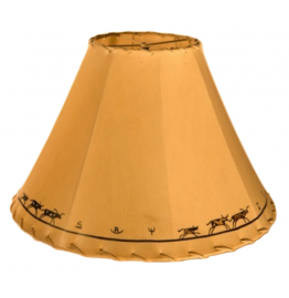image for Western Brands & Cattle Hand Painted Leather Lampshades