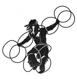 image for Native American Hoop Dancer Southwestern Wall Art Sculpture 36 x 41