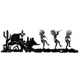 image for Dancing Kokopelli Southwestern Wall Art Sculpture 57 X 18