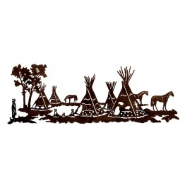 image for Native American Tepee Village Wall Sculpture 84 x 30