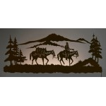 image for Cowboy Pack Horse Back-Lit Wall Art 42 inch