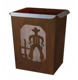 image for Cowboy Draw Western Metal Waste Can