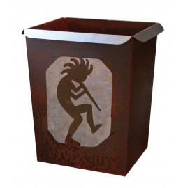 image for Kokopelli Southwest Motif Metal Waste Can