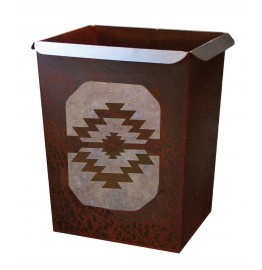image for Desert Diamond Southwestern Metal Waste Can