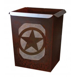 image for Texas Star Motif Metal Waste Can