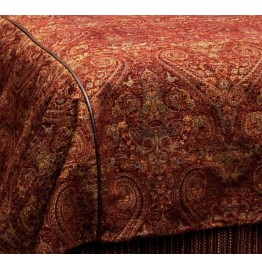 image for Milady II Paisley Chenille Old West Duvet Cover