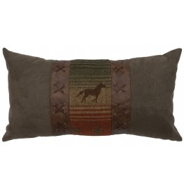 image for Mustang Canyon II Western Throw Pillow 14 x 26
