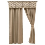 image for Adelanto Azure Valance and Drapery Set 84 long