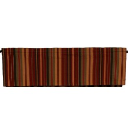 image for Bandera II Striped Rod Pocket Valance 51 x 16