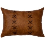 image for Whiskey Leather Throw Pillow 12 x 18