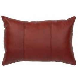 image for Rectangle Red Leather Throw Pillow 12 x 18