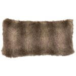 image for Cape Grey Fox Faux Fur Throw Pillow 14 x 26