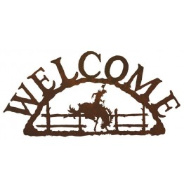 image for Cowboy Bronc Rider Welcome Sign