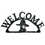 image for Cowboy Portrait Rustic Western Welcome Sign