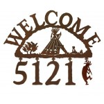 image for Indian Tepee II Southwest Address Sign