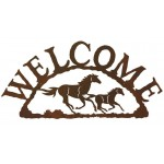 image for Running Horses Western Welcome Sign