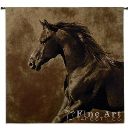 image for Westward Gallop Stallion Hanging Wall Tapestry & Rod 53 x 51