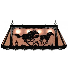 image for Wild Horses Western Galley Pool Table Light
