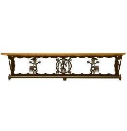 image for Mystic Yei Scenic Bath Shelf & Towel Bar 34 inch