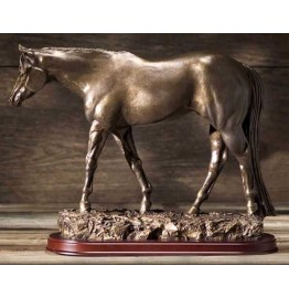 image for All American Horse Trotting Statue Bronze Color