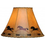 image for Appaloosa Horses Hand Painted Leather Lampshades