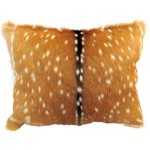 image for Axis Chital Deer Hide Throw Pillow 18 x 15