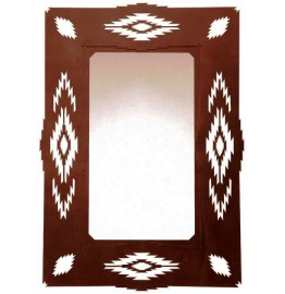 image for Aztec Diamond Southwest Wall Mirror 30 x 20