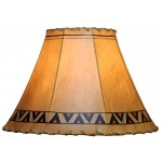 image for Aztec Design Hand Painted Leather Lampshades
