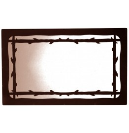 image for Barbed Wire Design Horizontal Western Mirror 30 x 22