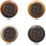 image for Basketweave Antique Copper & Wood 1.5 inch