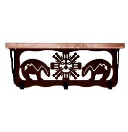 image for Bear Fetish Southwest 20 inch Wall Shelf (hooks avail)
