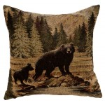 image for Tapestry of Bears Throw Pillow 16 x 16