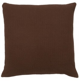 image for Bison Ridge II Pebble Brown Textured Fabric Eurosham Cover 26 x 26