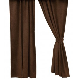 Espresso Brown Microsuede Drapery Panel Set 84 Long