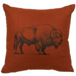 image for Buffalo Image Linen Paprika Southwest Pillow 20 x 20