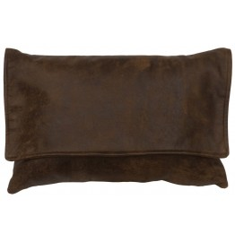 image for Timber Leather Flap Throw Pillow 12 x 18