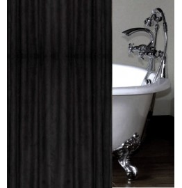 image for Black Faux Suede Luxury Shower Curtain Custom Made