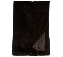 image for Black Sable Faux Fur Throw Blanket 54 x 72