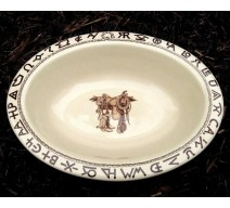 image for Boots & Saddle Western Oval Serving Bowl