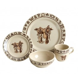 image for Boots & Saddle Western Dinnerware 4-Pc Place Setting