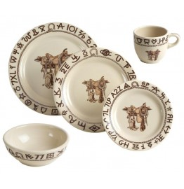 image for Boots & Saddle Western Dinnerware 20-Pc Set No Saucers