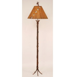 image for Iron Rod Banded Floor Lamp & Concho Accented Shade 65 inch