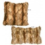 image for Brandy Fox Faux Fur Throw Pillow Set of 2