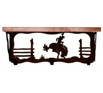 image for Bronc Rider 20 inch Western Wall Shelf (hooks avail)