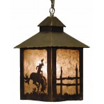 image for Bronc Rider Western Pendant Lantern Light