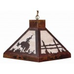 image for Bronc Rider Square Pendant Hanging Light